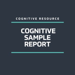 Cognitive Sample Report