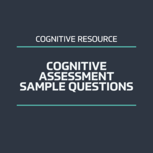 Cognitive assessment sample questions