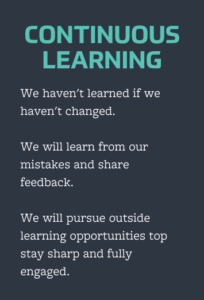 continuous learning value